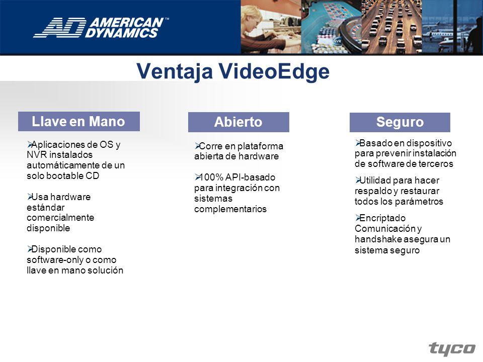 Ventaja VideoEdge Llave en Mano Abierto Seguro