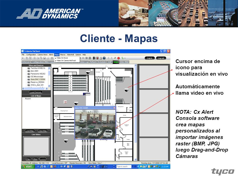 Cliente - Mapas Cursor encima de icono para visualización en vivo