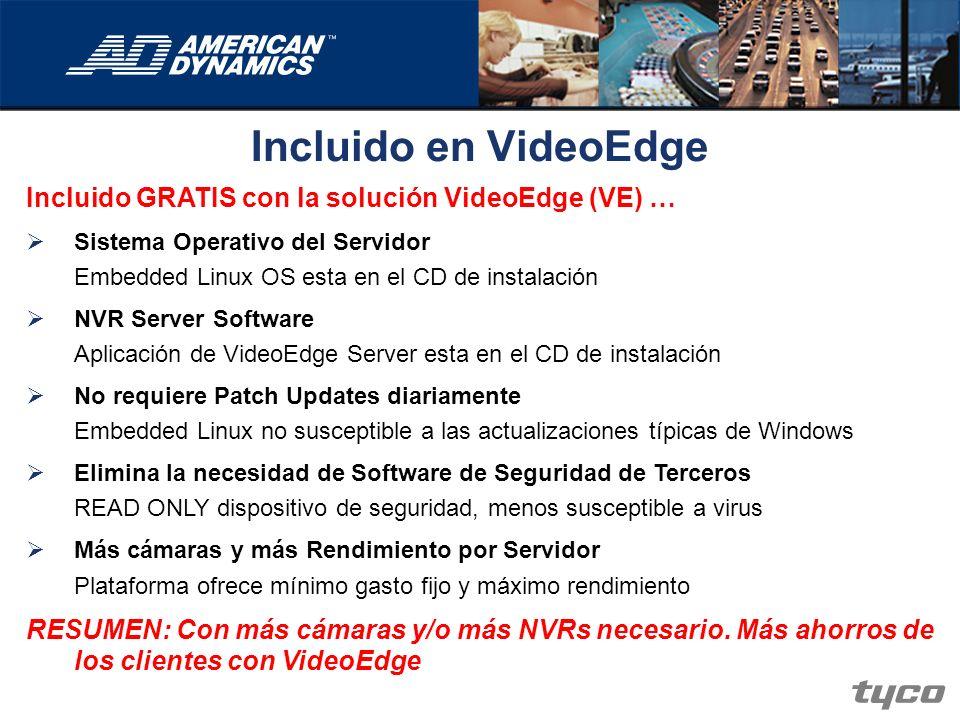 Incluido en VideoEdge Incluido GRATIS con la solución VideoEdge (VE) …