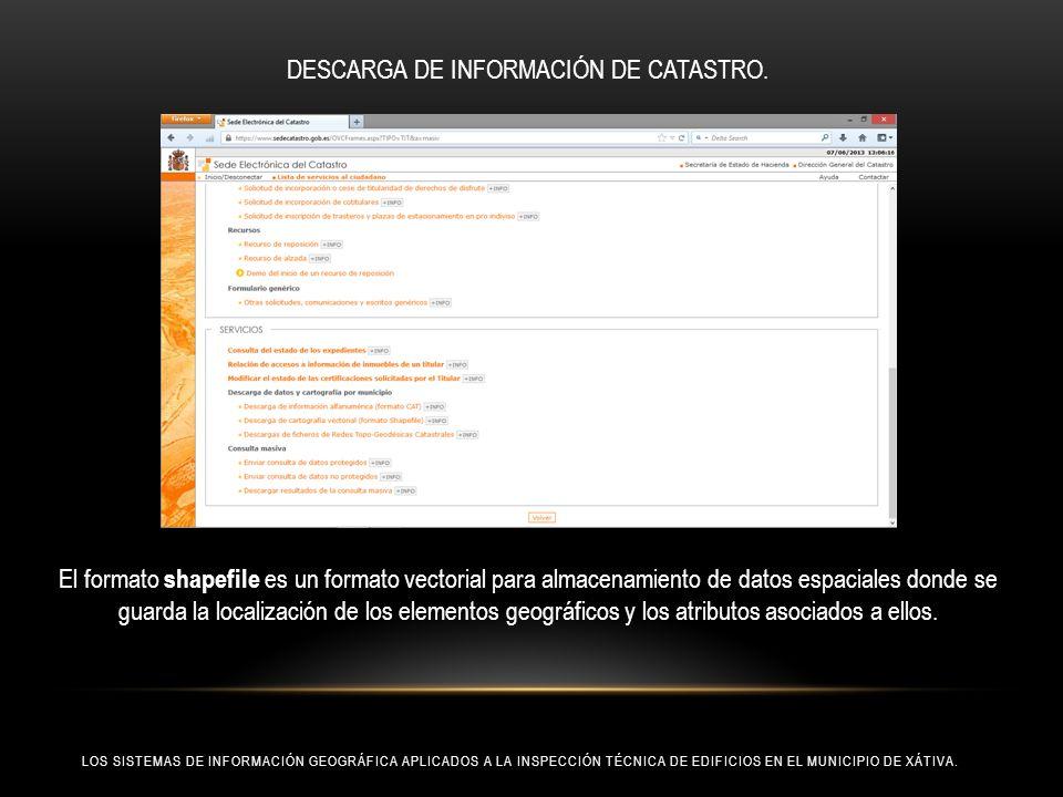 DESCARGA DE INFORMACIÓN DE CATASTRO.