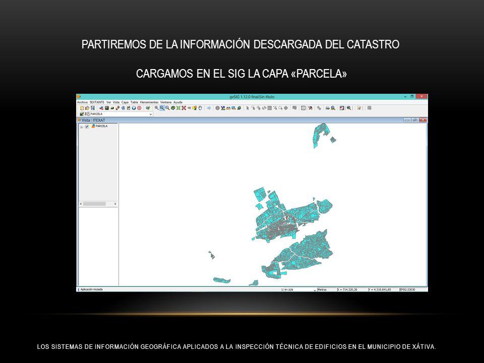 PARTIREMOS DE LA INFORMACIÓN DESCARGADA DEL CATASTRO