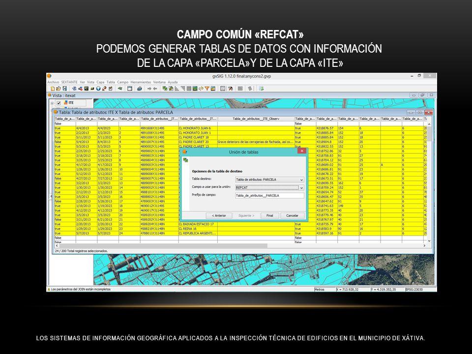 PODEMOS GENERAR TABLAS DE DATOS CON INFORMACIÓN