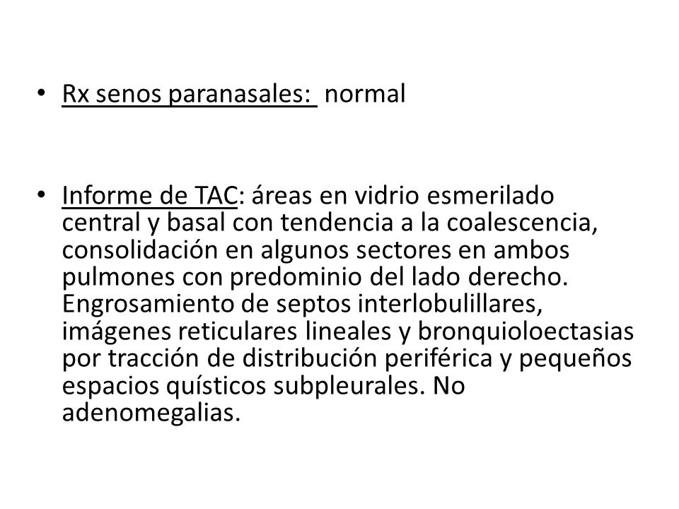 Rx senos paranasales: normal