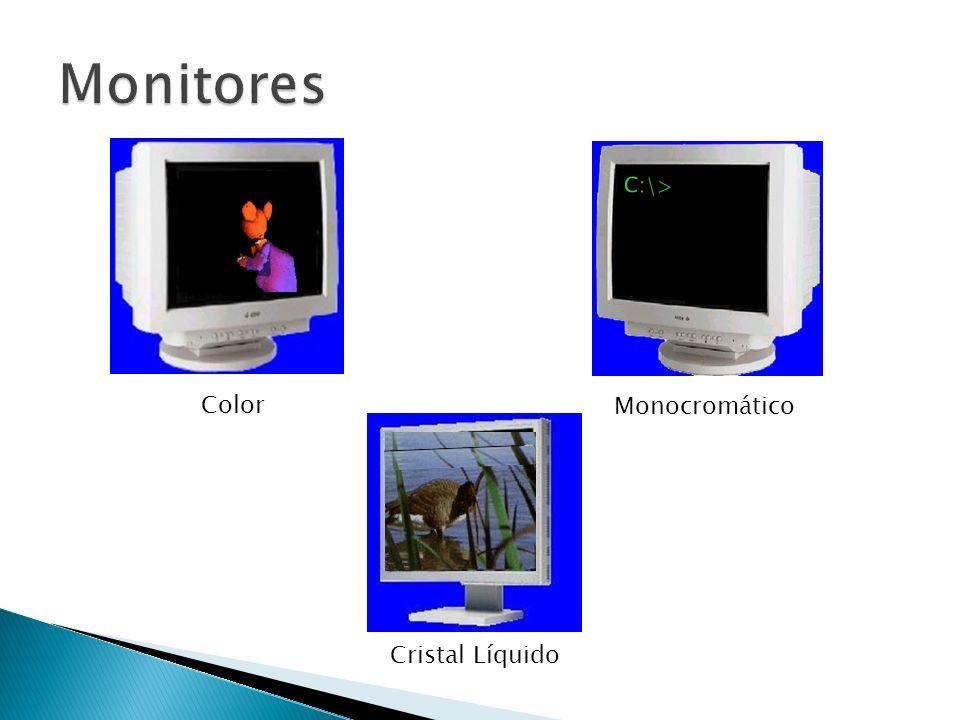 Monitores C:\> Monocromático Color Cristal Líquido