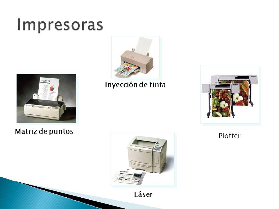 Impresoras Inyección de tinta Matriz de puntos Plotter Láser