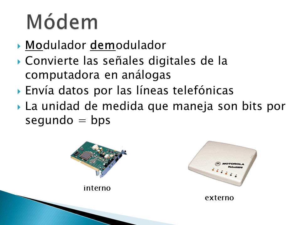 Módem Modulador demodulador