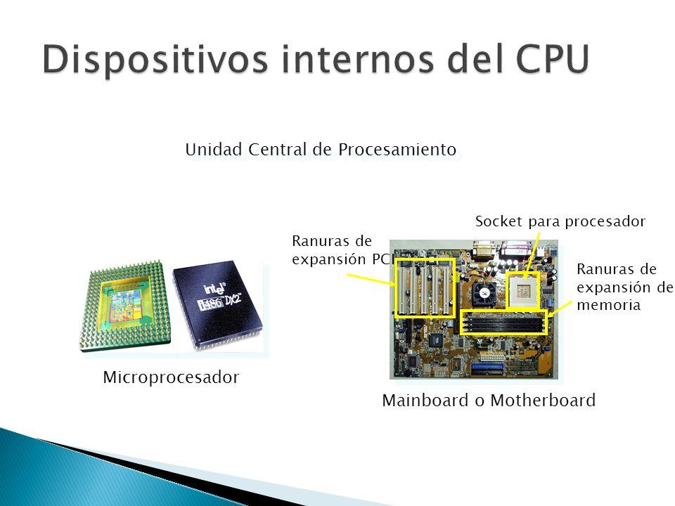 Dispositivos internos del CPU