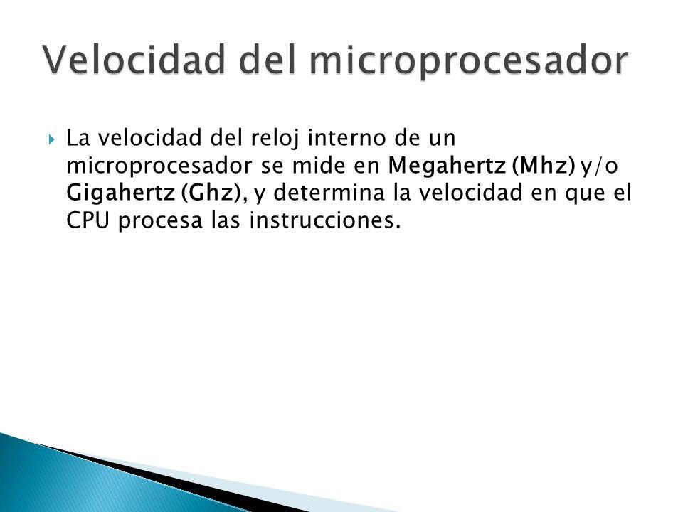 Velocidad del microprocesador