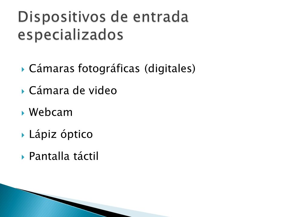 Dispositivos de entrada especializados