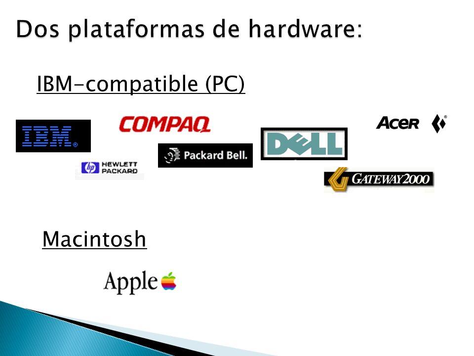Dos plataformas de hardware: