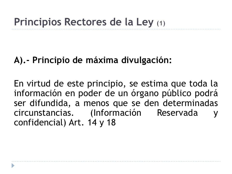Principios Rectores de la Ley (1)