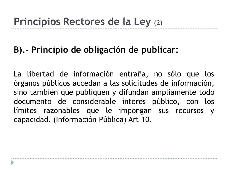 Principios Rectores de la Ley (2)