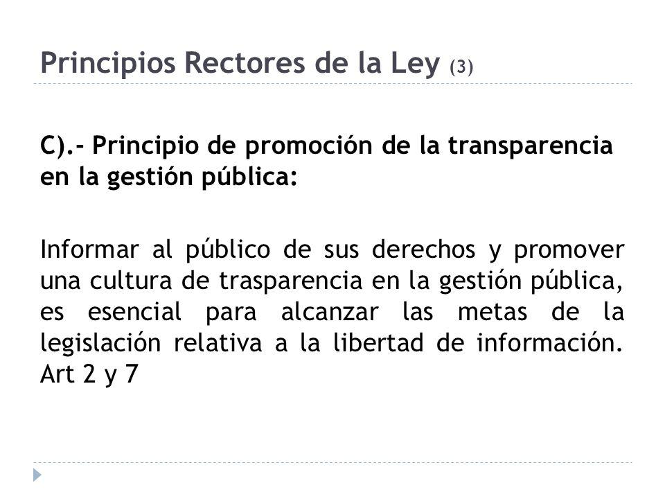 Principios Rectores de la Ley (3)