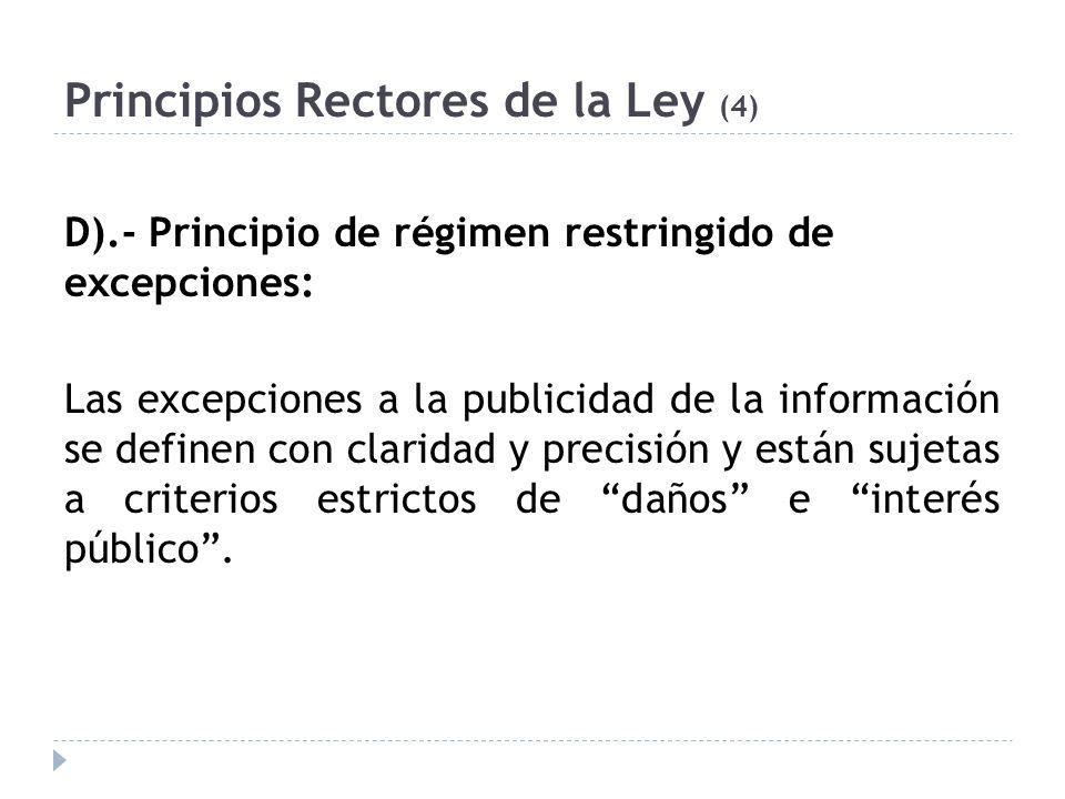 Principios Rectores de la Ley (4)
