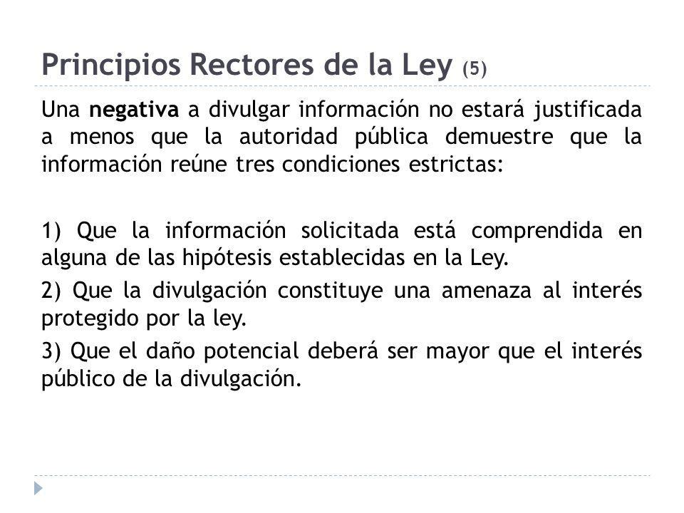 Principios Rectores de la Ley (5)