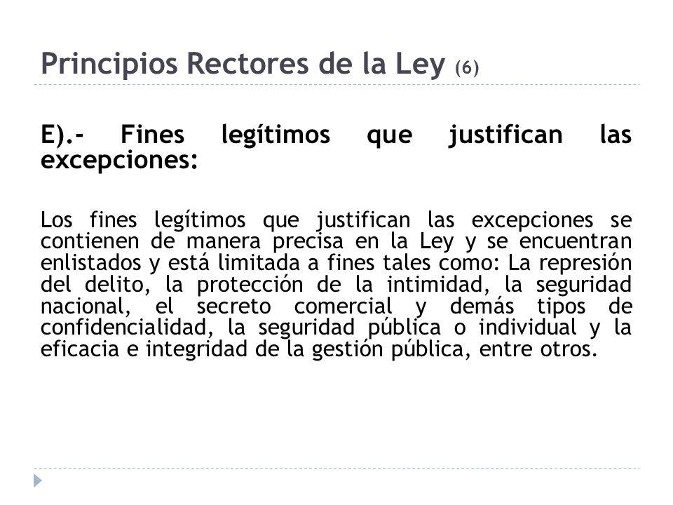 Principios Rectores de la Ley (6)
