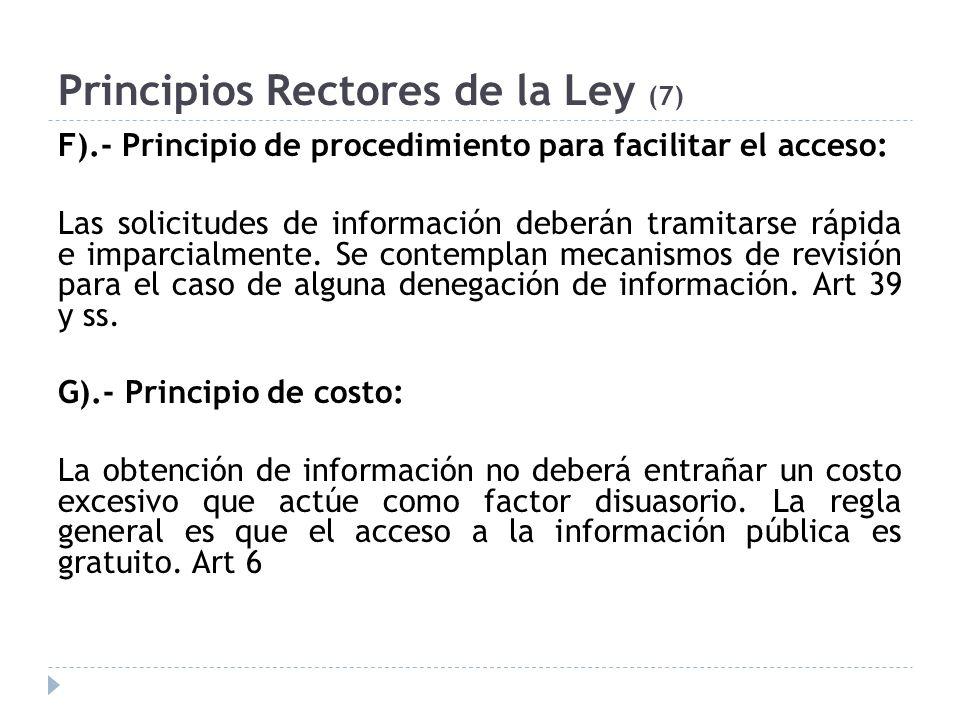 Principios Rectores de la Ley (7)