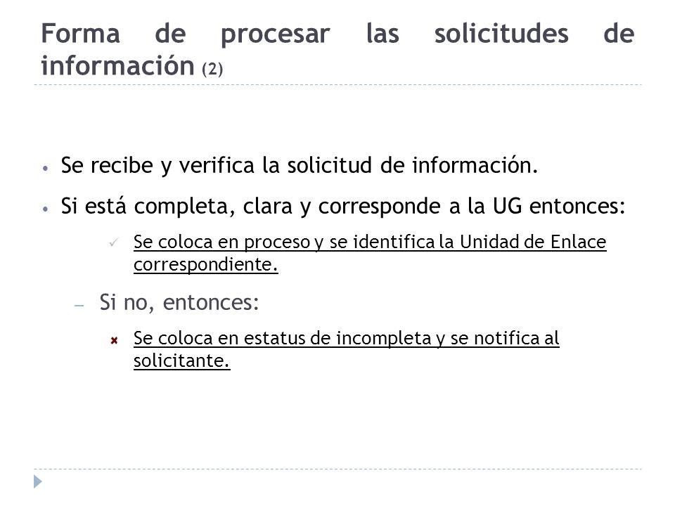 Forma de procesar las solicitudes de información (2)