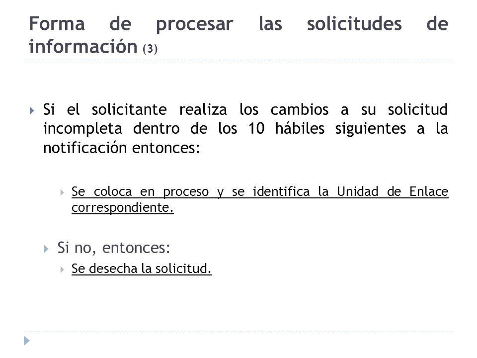 Forma de procesar las solicitudes de información (3)