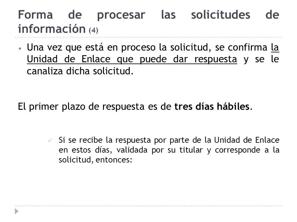 Forma de procesar las solicitudes de información (4)