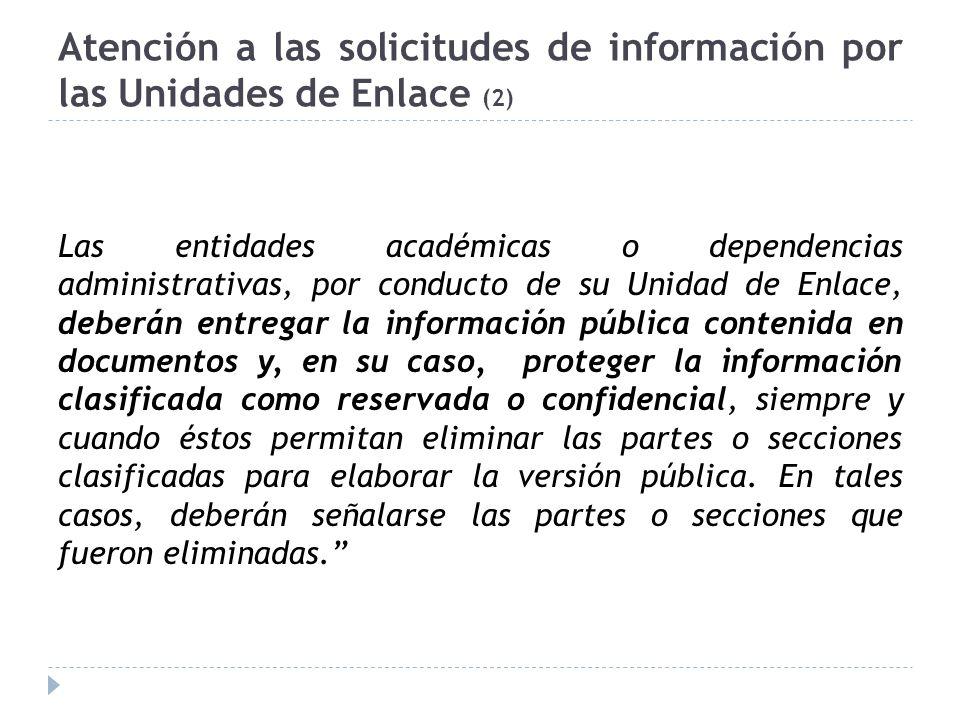 Atención a las solicitudes de información por las Unidades de Enlace (2)
