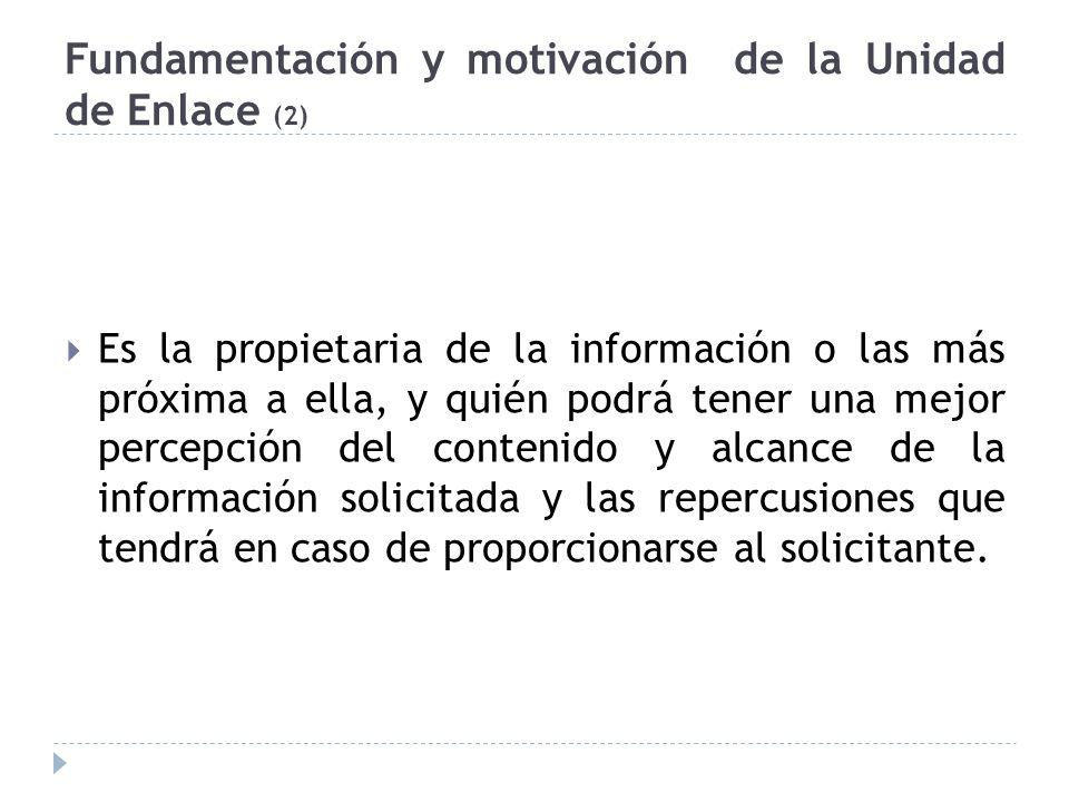 Fundamentación y motivación de la Unidad de Enlace (2)