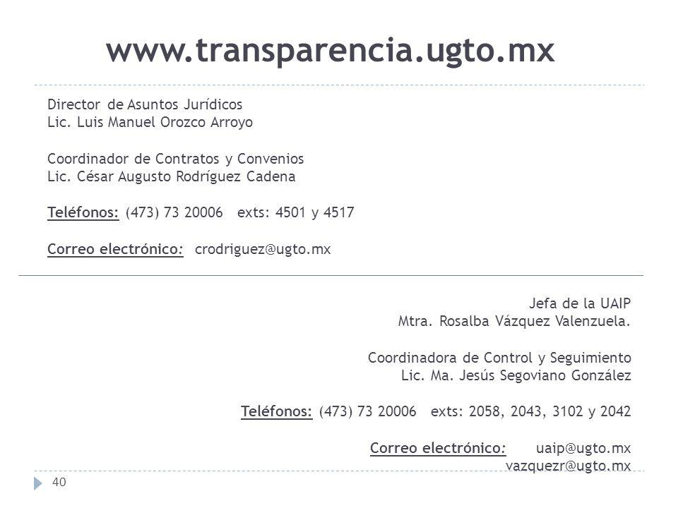 www.transparencia.ugto.mx Director de Asuntos Jurídicos