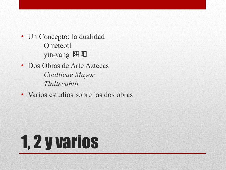 1, 2 y varios Un Concepto: la dualidad Ometeotl yin-yang 阴阳