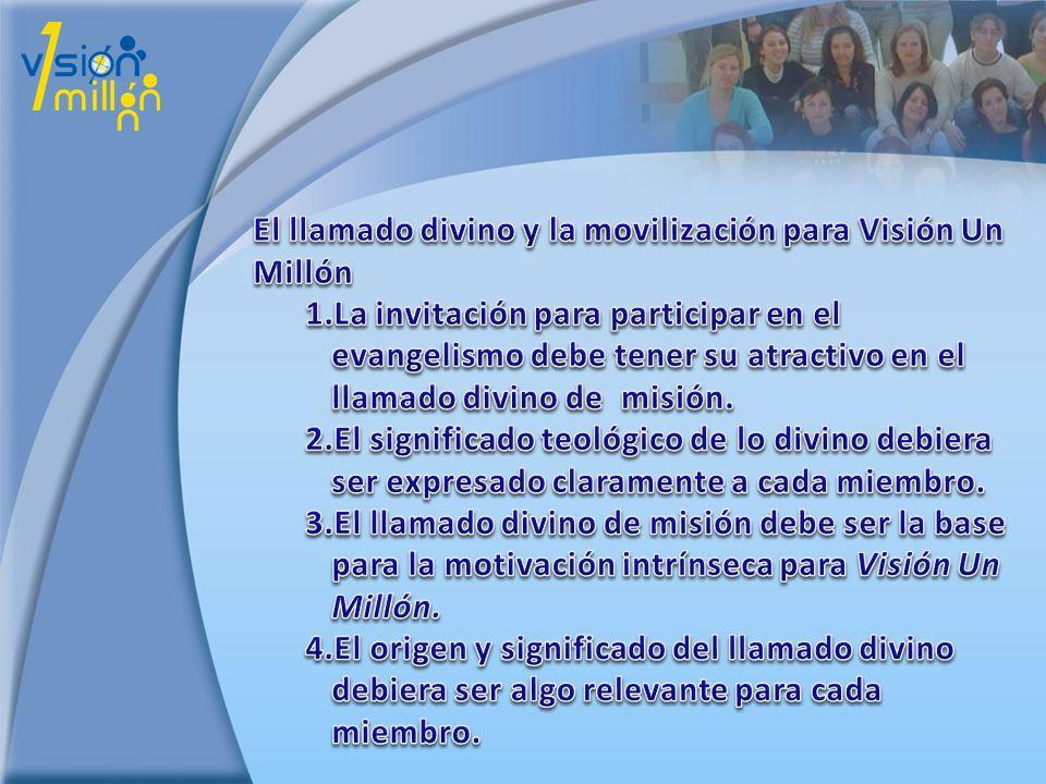 El llamado divino y la movilización para Visión Un Millón