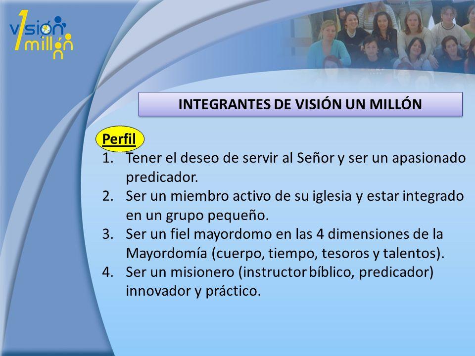 INTEGRANTES DE VISIÓN UN MILLÓN