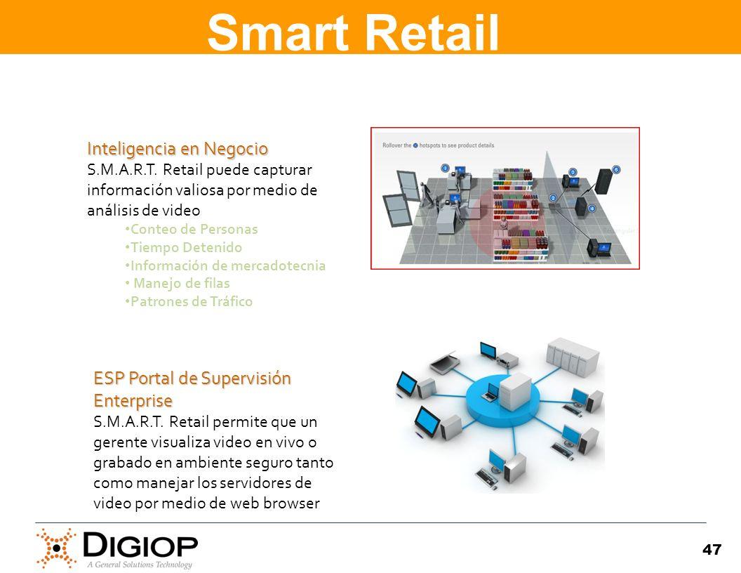 Smart Retail Inteligencia en Negocio S.M.A.R.T. Retail puede capturar información valiosa por medio de análisis de video.