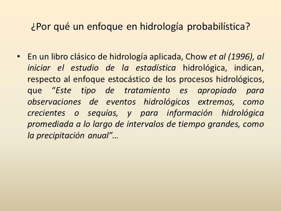 ¿Por qué un enfoque en hidrología probabilística