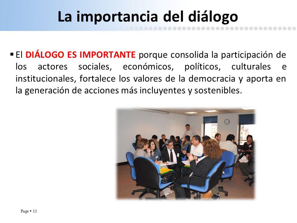 La importancia del diálogo