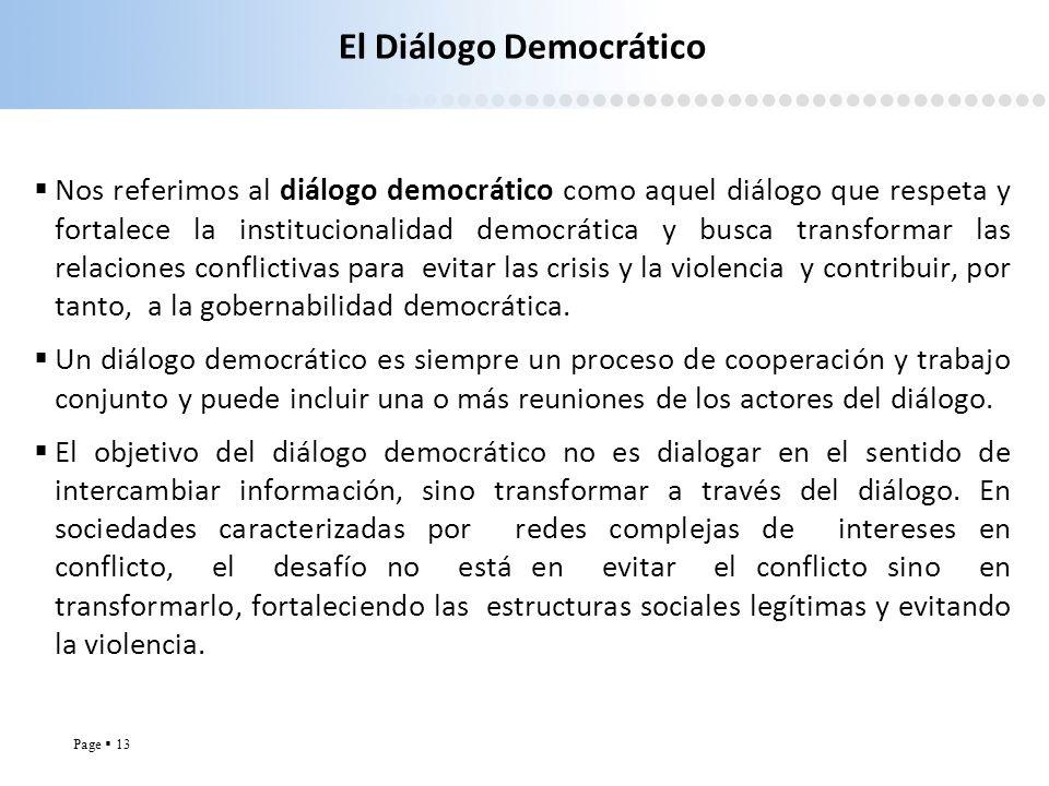 El Diálogo Democrático