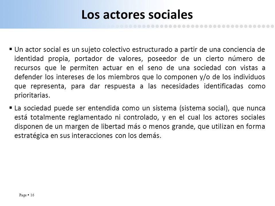 Los actores sociales
