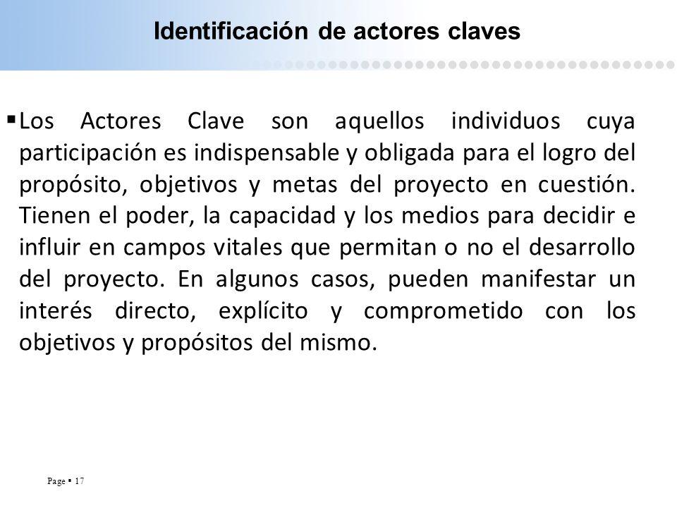 Identificación de actores claves