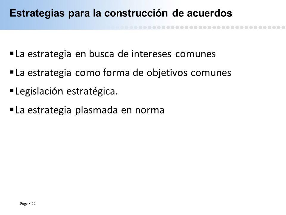 Estrategias para la construcción de acuerdos