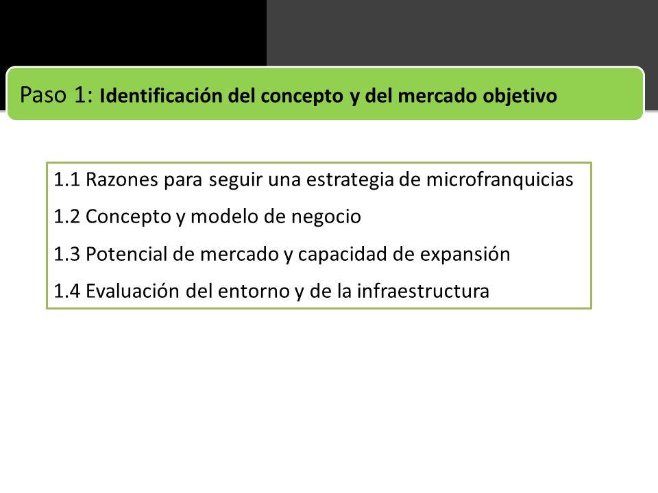Paso 1: Identificación del concepto y del mercado objetivo
