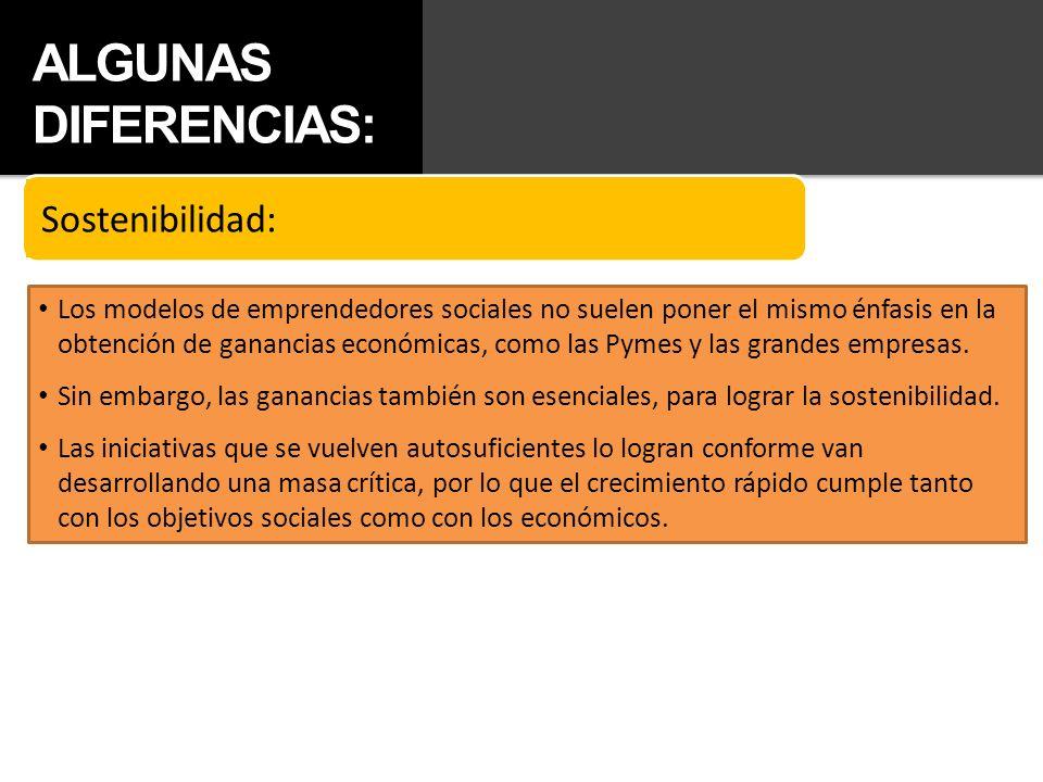 ALGUNAS DIFERENCIAS: Sostenibilidad: