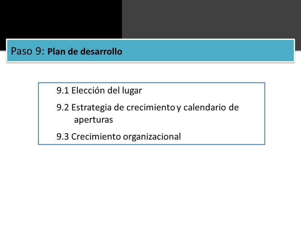 Paso 9: Plan de desarrollo