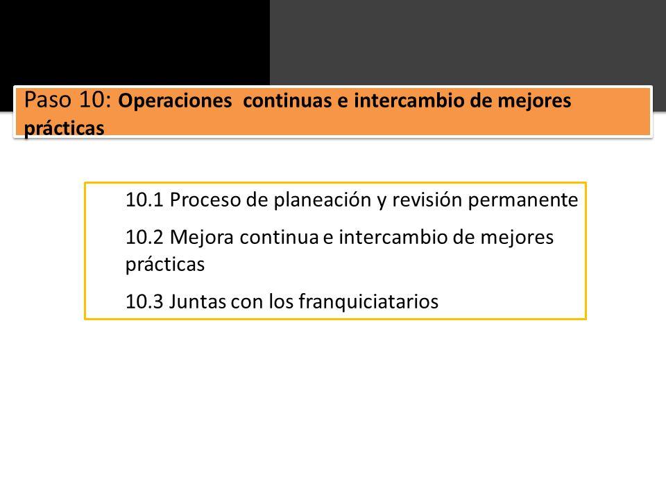 Paso 10: Operaciones continuas e intercambio de mejores prácticas