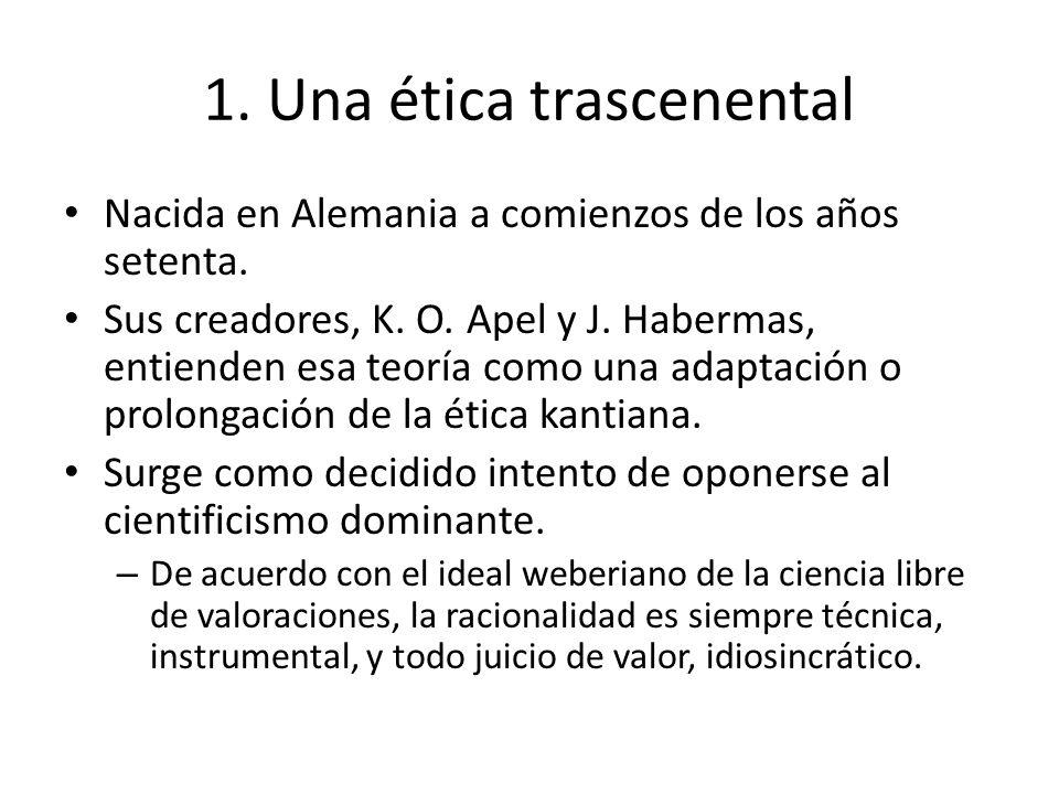 1. Una ética trascenental