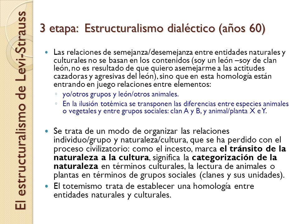 3 etapa: Estructuralismo dialéctico (años 60)