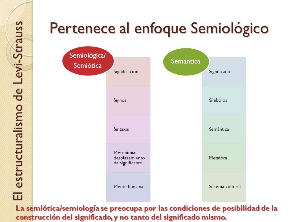 Pertenece al enfoque Semiológico