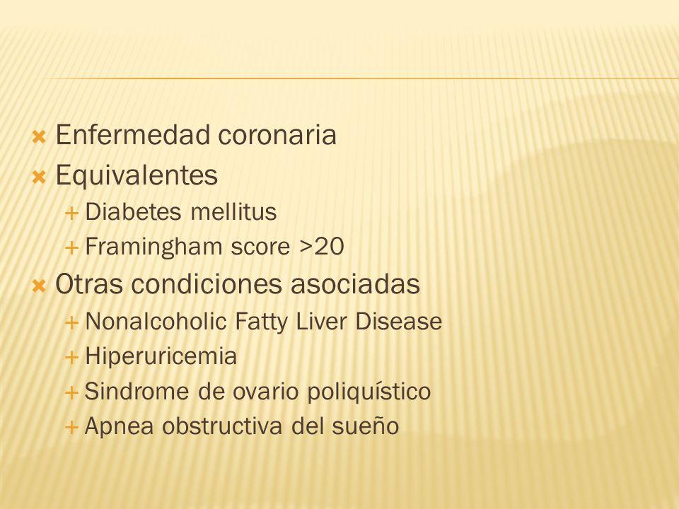 Otras condiciones asociadas