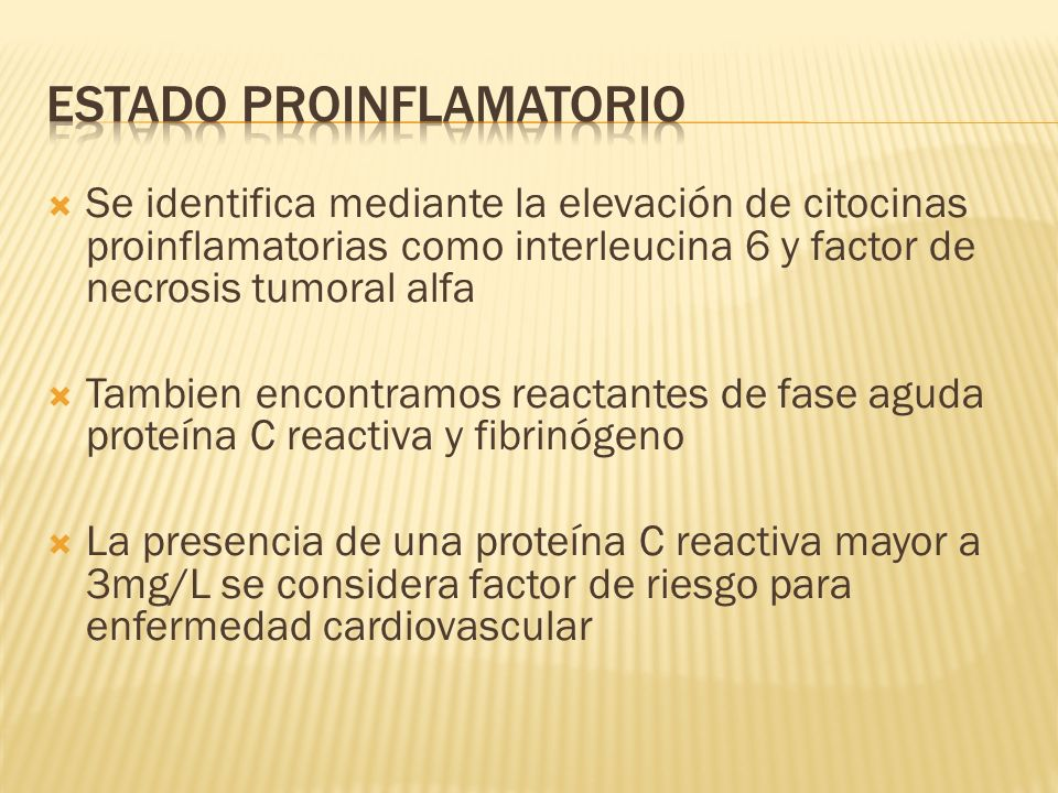 Estado proinflamatorio