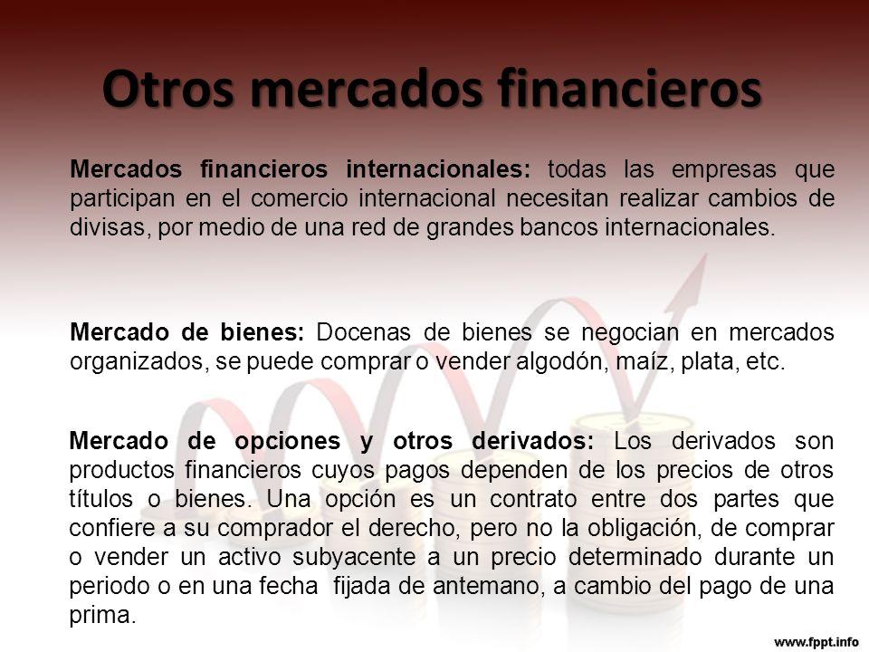 Otros mercados financieros