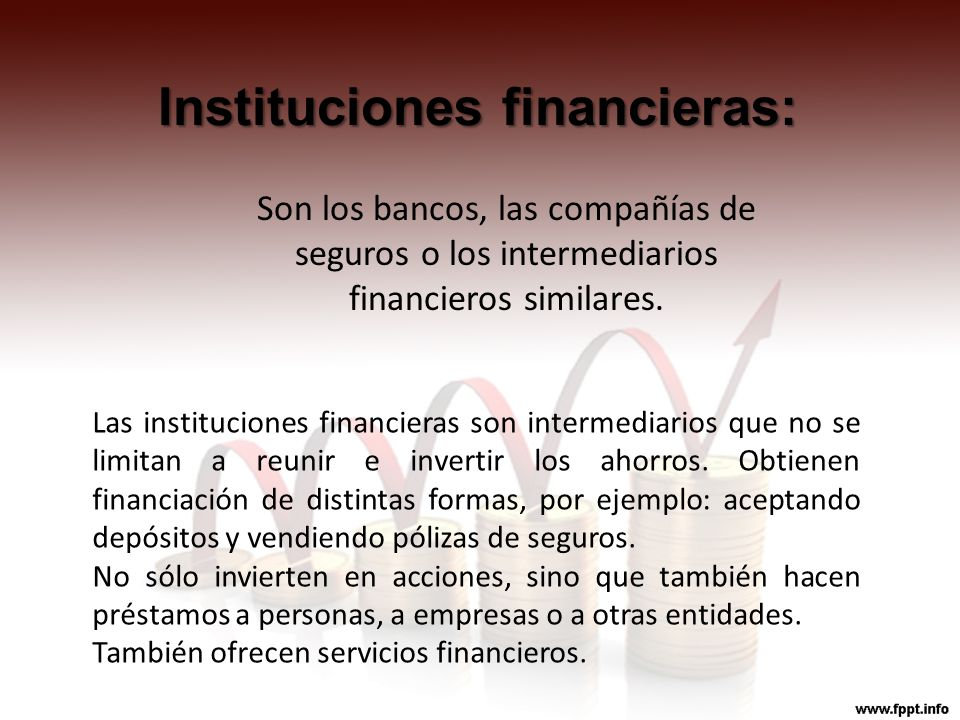 Instituciones financieras: