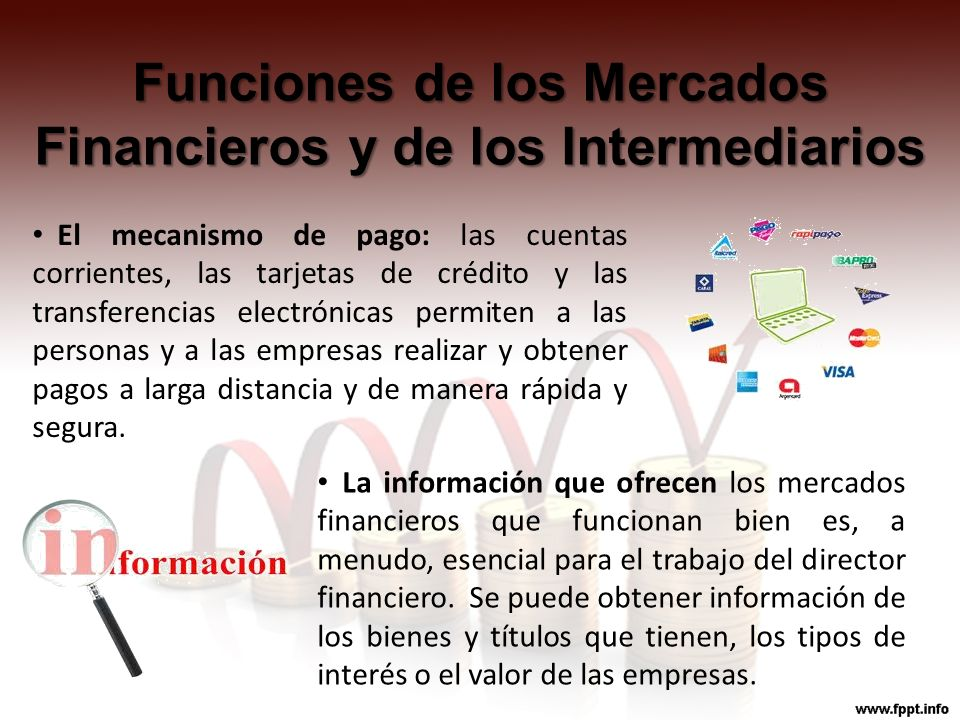 Funciones de los Mercados Financieros y de los Intermediarios