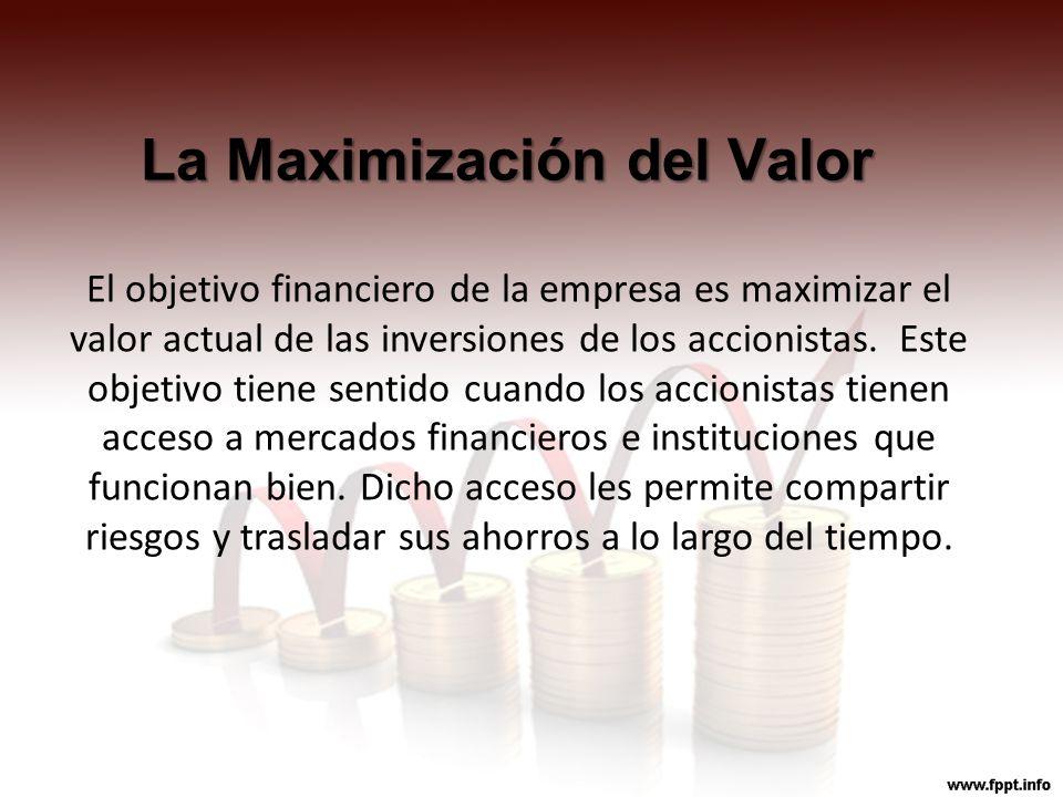 La Maximización del Valor